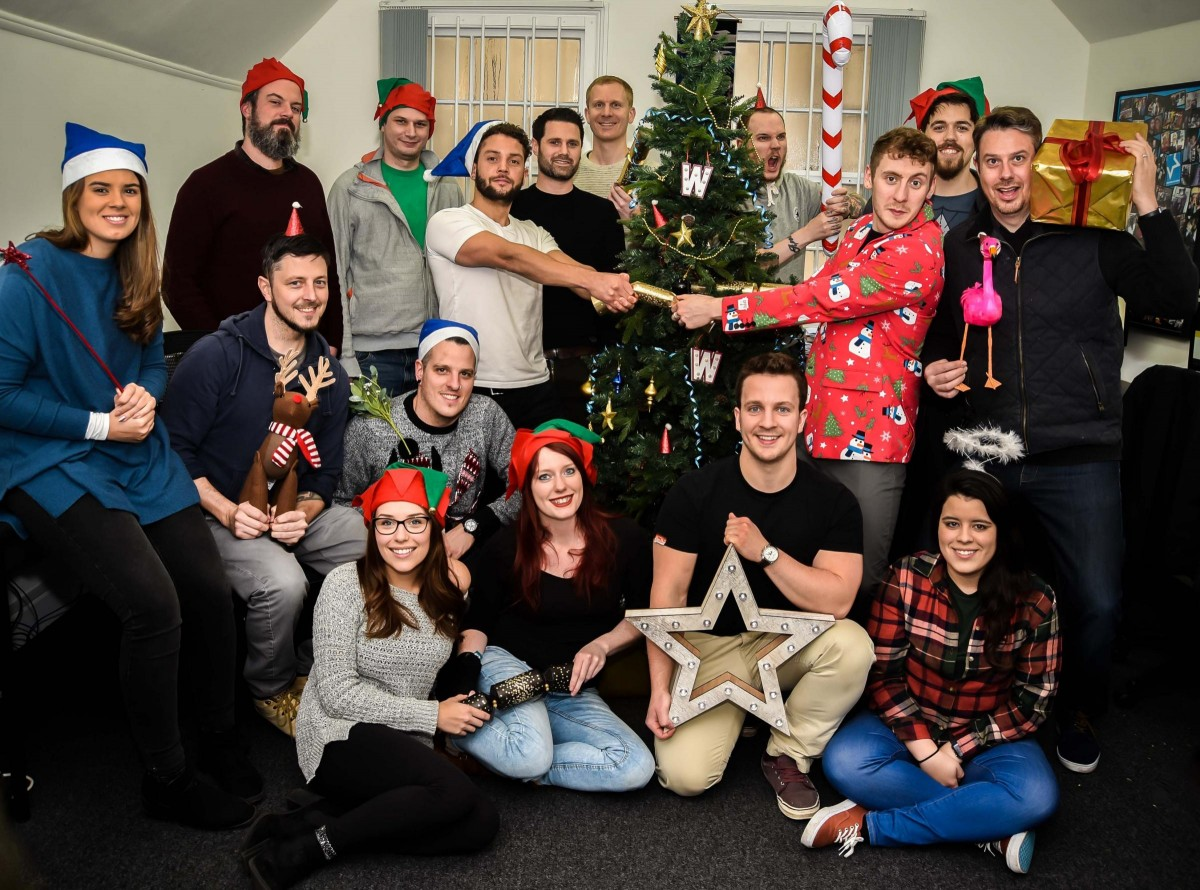 Web design company parties hard after a successful year