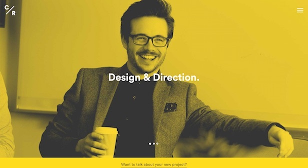 23 examples of duotones and colour filters in web design