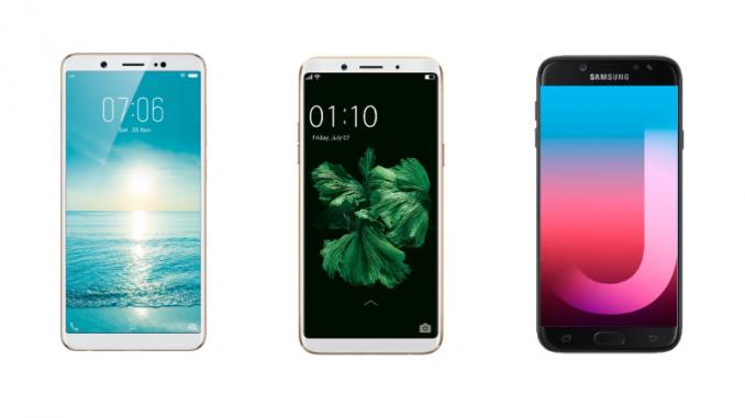 Vivo V7 vs Oppo F5 vs Samsung Galaxy J7 Pro: Price in India